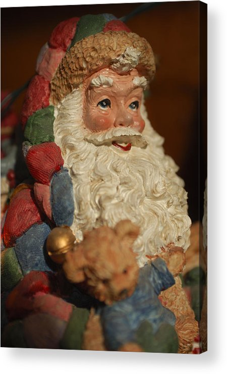 Santa Claus Acrylic Print featuring the photograph Santa Claus - Antique Ornament - 09 by Jill Reger
