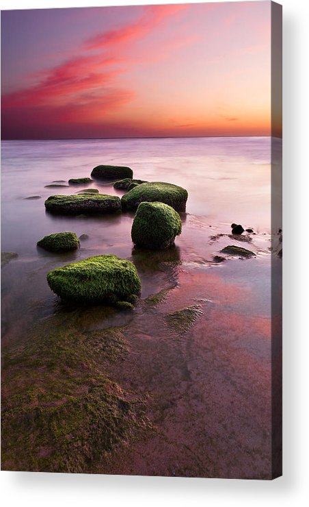 Seascape Acrylic Print featuring the photograph Simphony Of Color by Jorge Maia