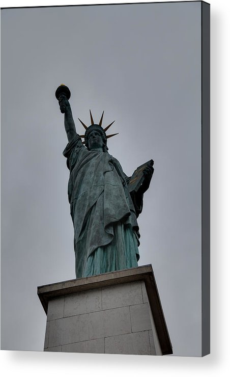 Aod Acrylic Print featuring the photograph Statue Of Liberty - Paris France - 01131 by DC Photographer