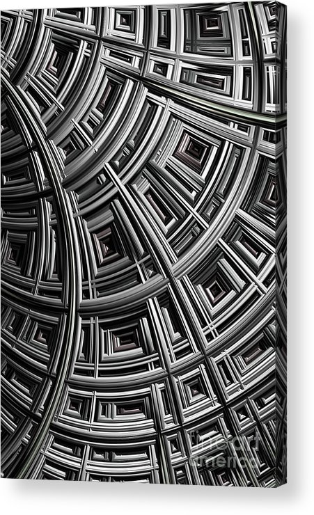 Mesh Acrylic Print featuring the digital art Structure by John Edwards
