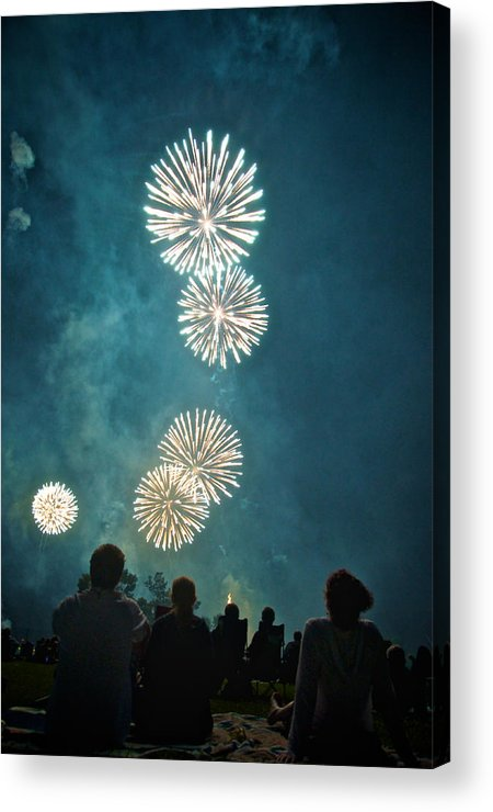 July Acrylic Print featuring the photograph The 4th by Josh Eral