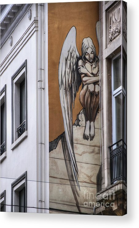 Architectural Feature Acrylic Print featuring the photograph The Angel by Juli Scalzi