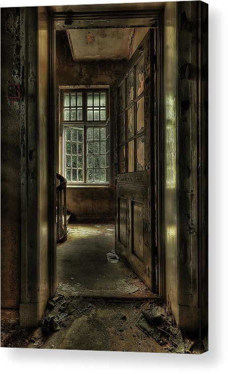 Brown Acrylic Print featuring the photograph The Asylum Project - Welcome by Erik Brede