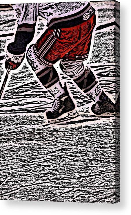 Hockey Acrylic Print featuring the photograph The Hockey Player by Karol Livote