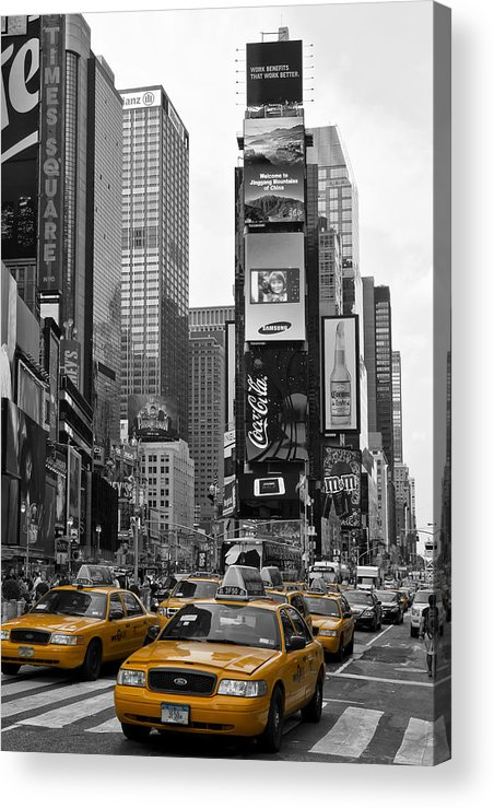 Manhattan Acrylic Print featuring the photograph Times Square Nyc by Melanie Viola