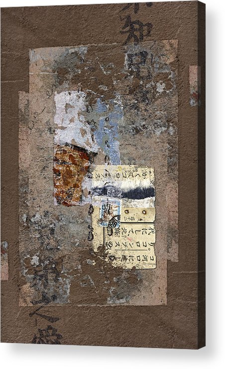 Torn Acrylic Print featuring the photograph Torn Papers On Wall by Carol Leigh