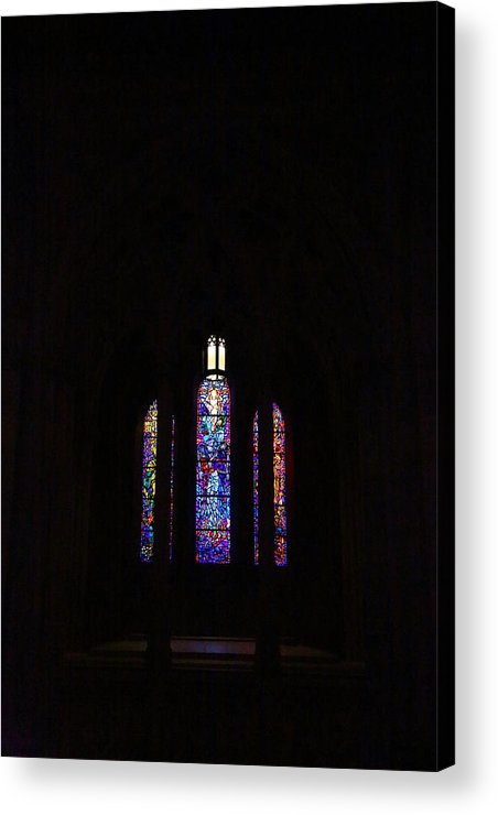 Alter Acrylic Print featuring the photograph Washington National Cathedral - Washington Dc - 011334 by DC Photographer