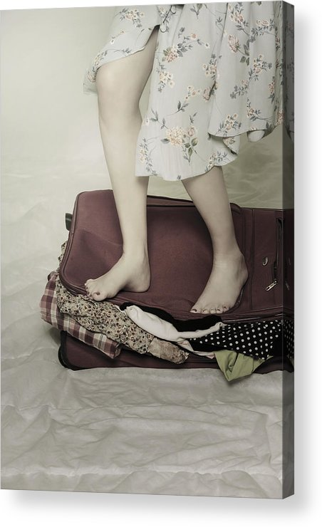 Woman Acrylic Print featuring the photograph When A Woman Travels by Joana Kruse