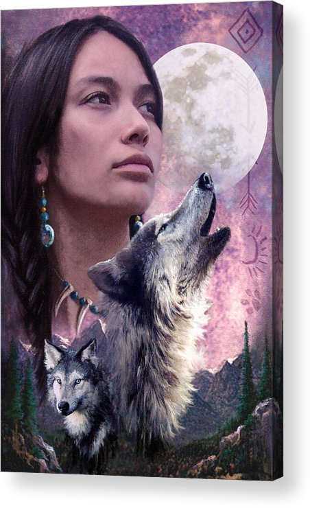 Adult Acrylic Print featuring the photograph Wolf Montage by Garry Walton