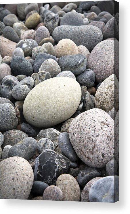 Pebbles Acrylic Print featuring the photograph Pebbles by Frank Tschakert