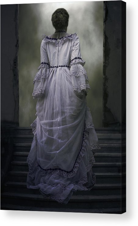 Woman Acrylic Print featuring the photograph Woman On Steps by Joana Kruse