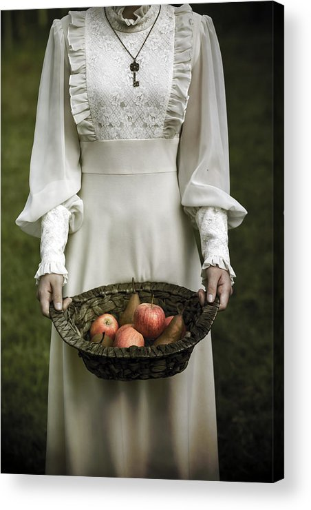 Woman Acrylic Print featuring the photograph Basket With Fruits by Joana Kruse