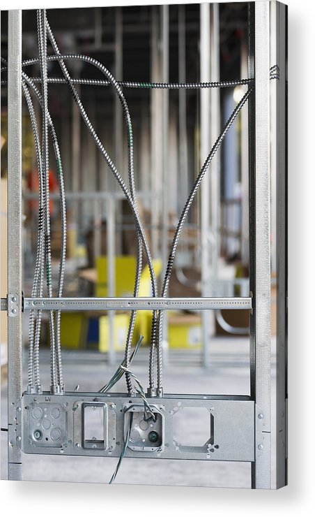 No People Acrylic Print featuring the photograph Commercial Building Under Construction by Don Mason