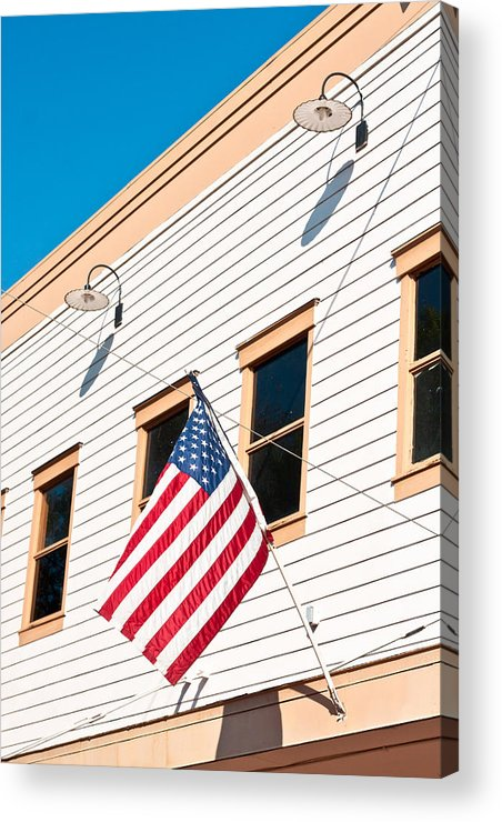4th Acrylic Print featuring the photograph American Flag by Tom Gowanlock
