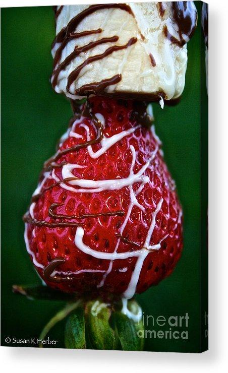 Food Acrylic Print featuring the photograph Berry Banana Kabob by Susan Herber