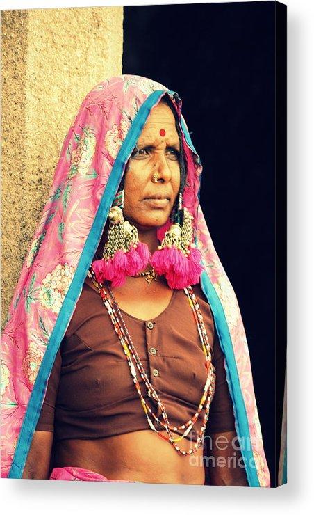 Portrait Acrylic Print featuring the photograph Bohemian by Vishakha Bhagat
