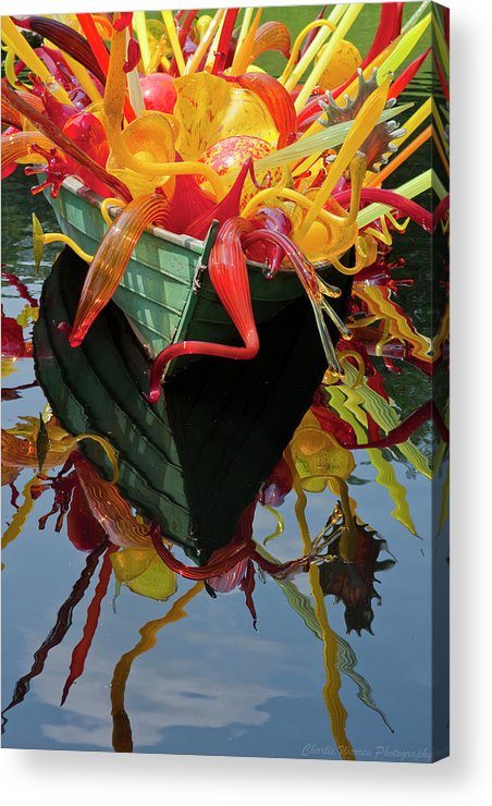 Cheekwood Gardens Acrylic Print featuring the photograph Chihully Boat by Charles Warren