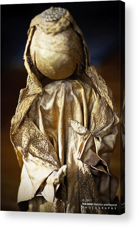 Angel Acrylic Print featuring the photograph Christmas Angel by Vicki Jauron