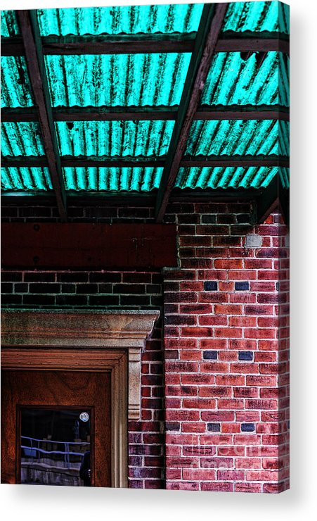 Door Acrylic Print featuring the photograph Door With Green Overhang by HD Connelly