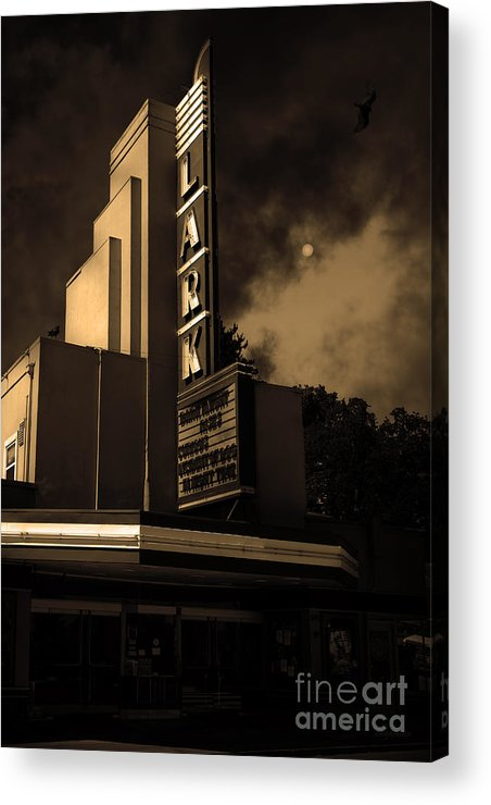 Bay Area Acrylic Print featuring the photograph Evening At The Lark - Larkspur California - 5d18484 - Sepia by Wingsdomain Art and Photography