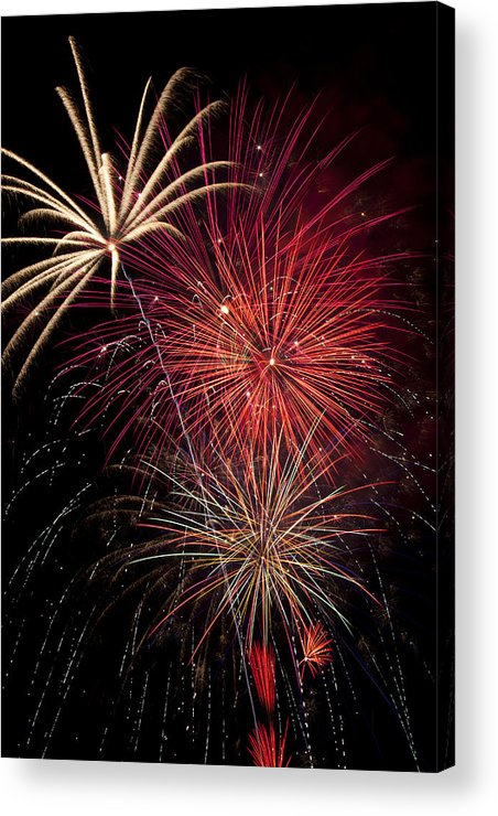 4th Of July Acrylic Print featuring the photograph Fireworks by Garry Gay
