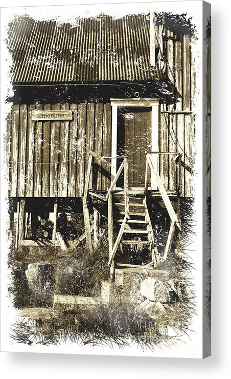 Heiko Acrylic Print featuring the photograph Forgotten Wooden House by Heiko Koehrer-Wagner