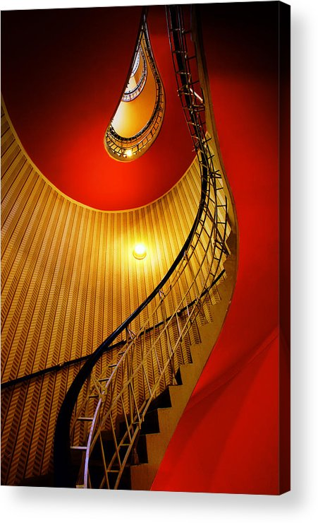 Staircase Acrylic Print featuring the photograph Four Flights by John Galbo