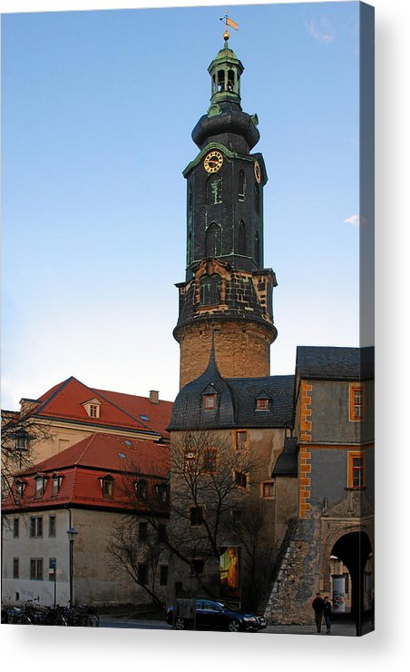 Weimar Acrylic Print featuring the photograph Gatehouse Weimar City Palace by Christine Till