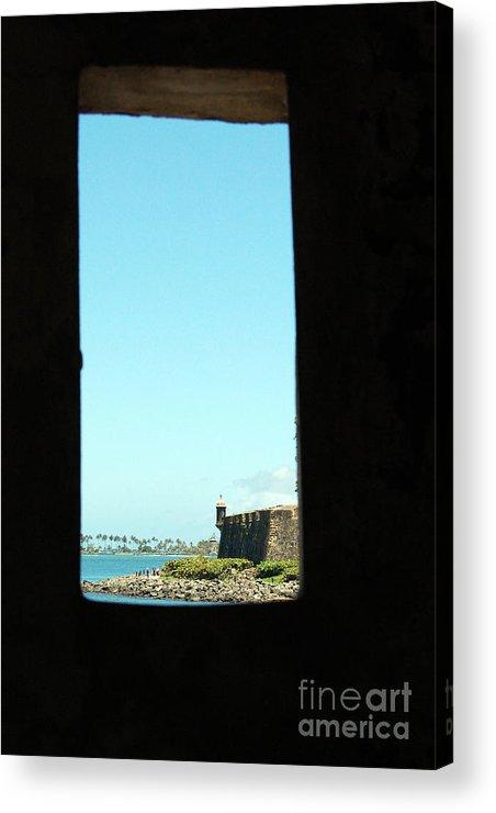 El Morro Acrylic Print featuring the photograph Guard Tower View Castillo San Felipe Del Morro San Juan Puerto Rico by Shawn O'Brien