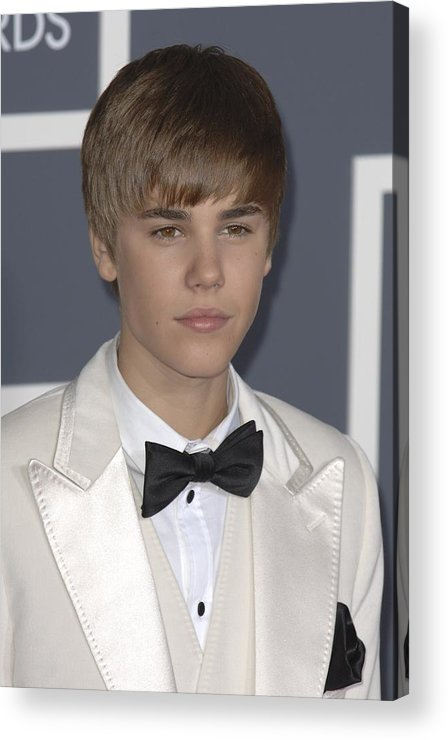 Justin Bieber Acrylic Print featuring the photograph Justin Bieber At Arrivals For The 53rd by Everett