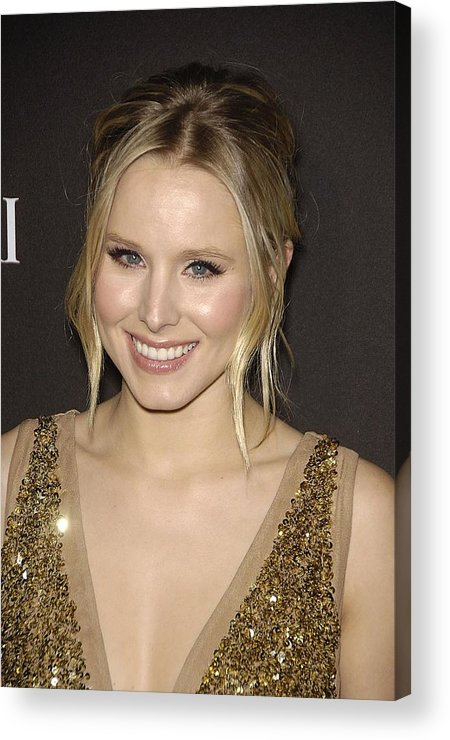 Kristen Bell Acrylic Print featuring the photograph Kristen Bell At Arrivals For 12th by Everett
