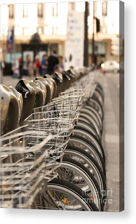 Bicycle Acrylic Print featuring the pyrography Paris Bikes by Igor Kislev