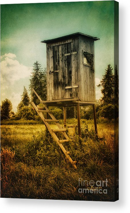 Photo Acrylic Print featuring the photograph Small Cabin With Legs by Jutta Maria Pusl
