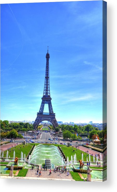 Helsinki Finland Acrylic Print featuring the digital art The Eiffel Tower by Barry R Jones Jr