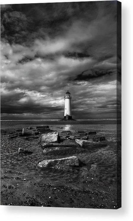 Beach Acrylic Print featuring the photograph The Old Lighthouse by Adrian Evans