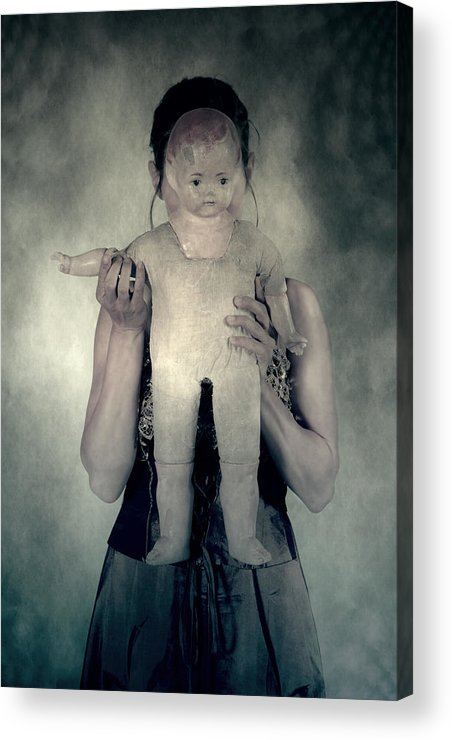 Hide Acrylic Print featuring the photograph Woman With Doll by Joana Kruse