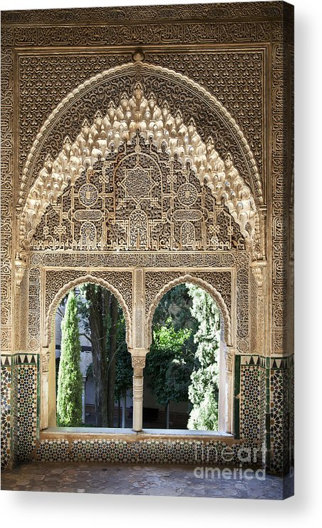 Alhambra Acrylic Print featuring the photograph Alhambra Windows by Jane Rix