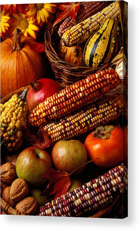 Autumn Acrylic Print featuring the photograph Autumn Harvest by Garry Gay