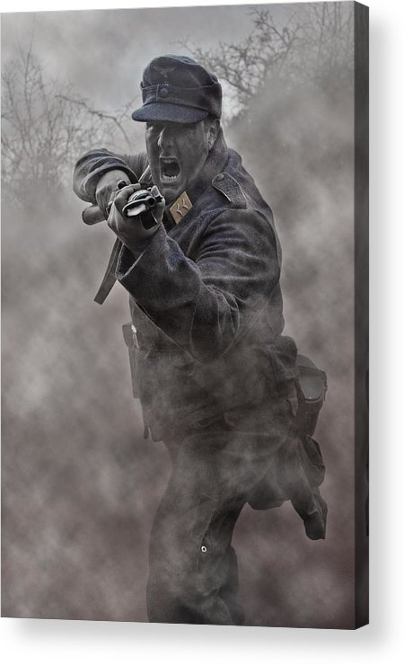 Soldier Acrylic Print featuring the photograph Bayonet Warrior by Mark H Roberts