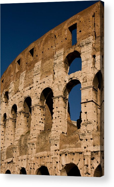 Rome Acrylic Print featuring the photograph Colliseum 15 by Art Ferrier