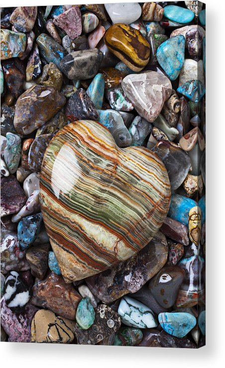 Stone Acrylic Print featuring the photograph Heart Stone by Garry Gay