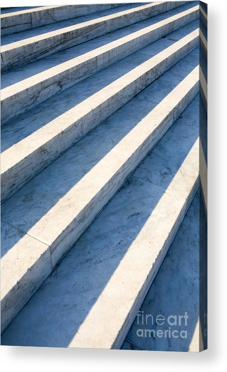 Architectural Detail Acrylic Print featuring the photograph Marble Steps, Jefferson Memorial, Washington Dc, Usa, North America by Paul Edmondson