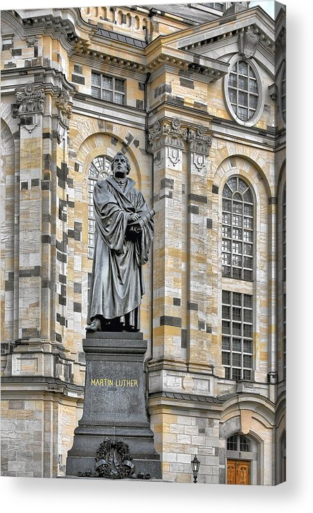 Martin Luther Acrylic Print featuring the photograph Martin Luther Monument Dresden by Christine Till