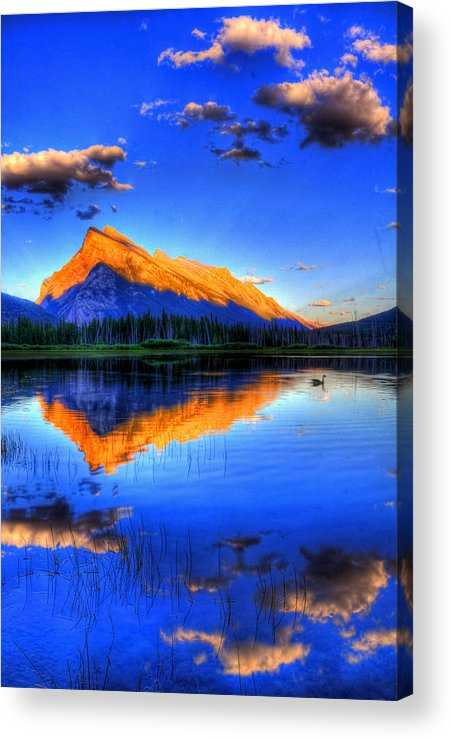 Mountain Acrylic Print featuring the photograph Of Geese And Gods by Scott Mahon