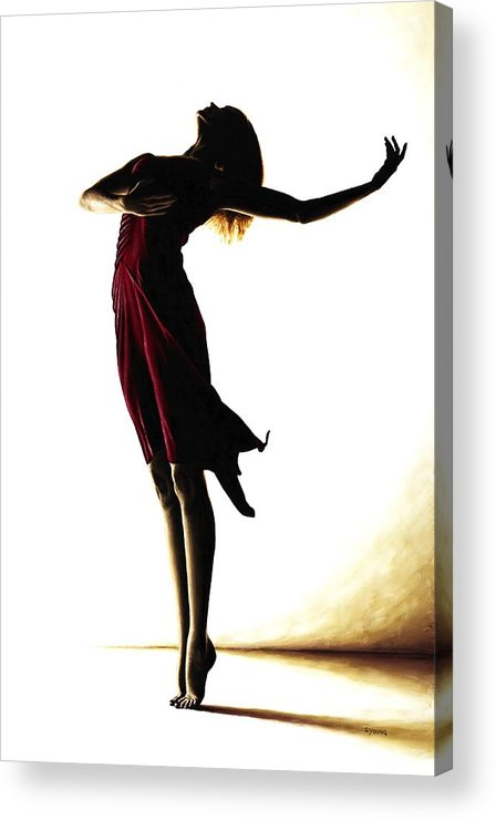 Ballet Acrylic Print featuring the painting Poise In Silhouette by Richard Young