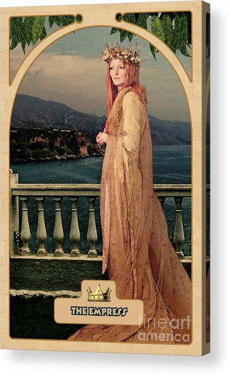 Magic Acrylic Print featuring the digital art The Empress by John Edwards