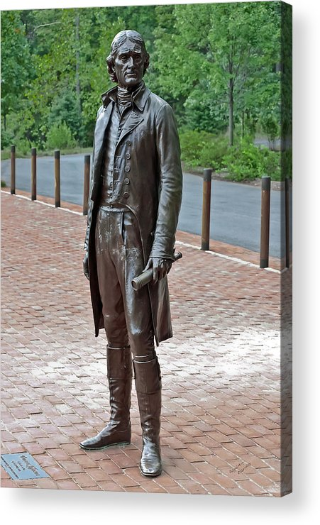 Thomas Jefferson Acrylic Print featuring the photograph The Man Behind Monticello by DigiArt Diaries by Vicky B Fuller