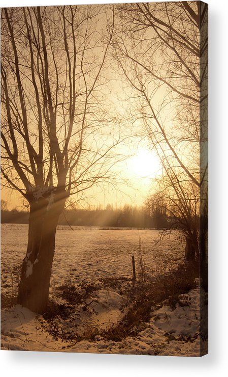 Sunset Acrylic Print featuring the photograph Winter Sunset by Wim Lanclus