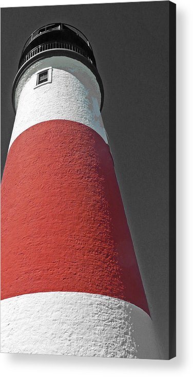 Becky Acrylic Print featuring the photograph Historical Sankaty Head Lighthouse by Becky Lodes