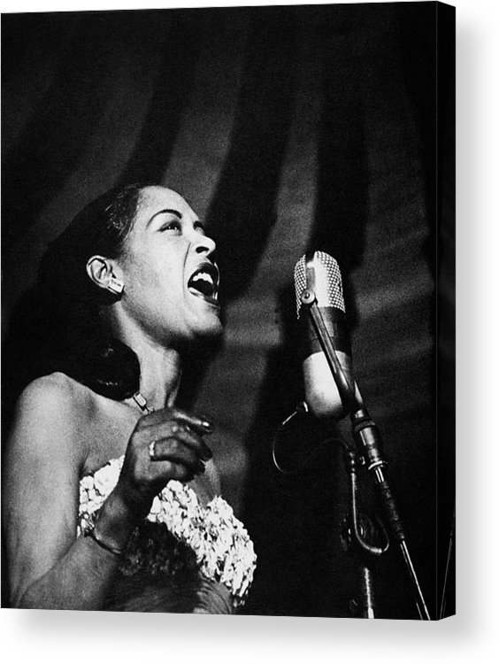 20th Century Acrylic Print featuring the photograph Billie Holiday (1915-1959) by Granger